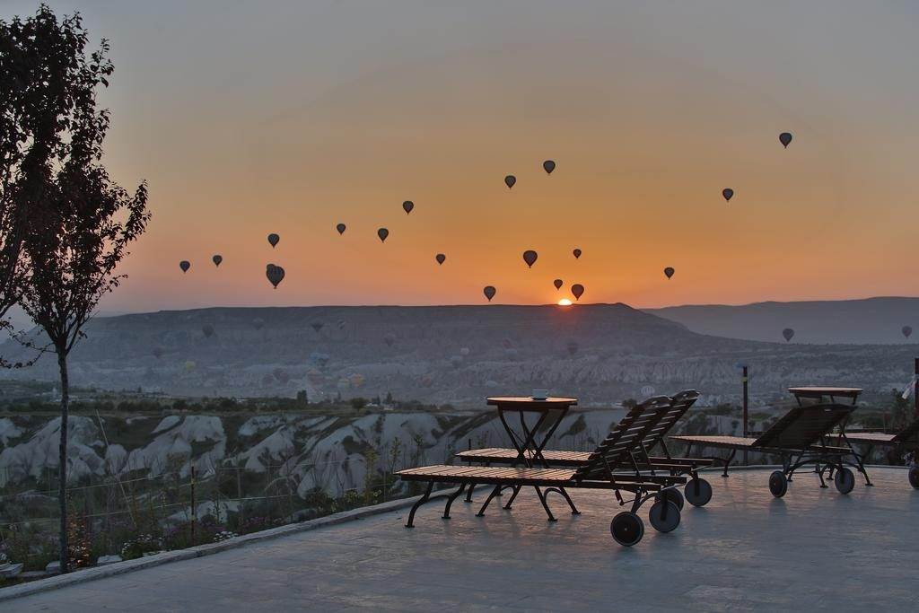 Your Curator - Travel Planning Services | The view from Ariana Sustainable luxury lodge hotel in Cappadocia, Turkey.