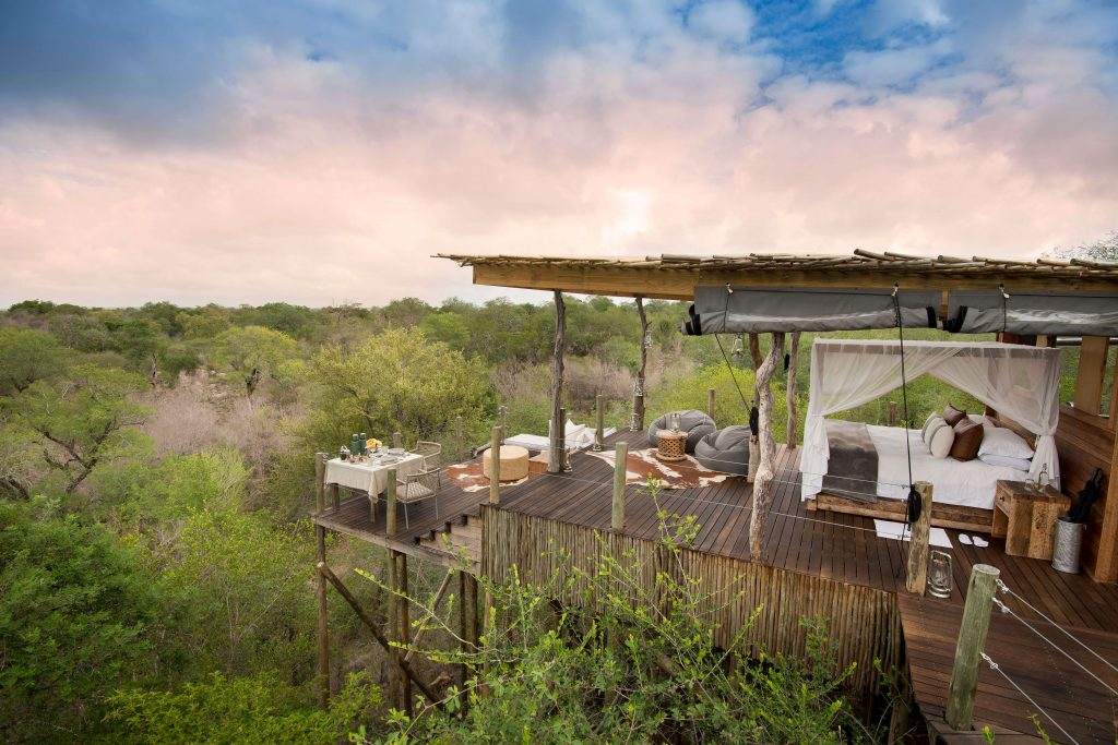 Your Curator - Travel Planning Service | Top destinations for a luxury digital detox. Including this incredible treehouse at Lion Sands Game Reserve. Here you can go on Safari in South Africa's famous Kruger National Park.