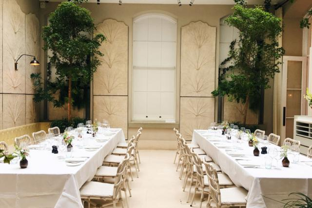 The beautiful Salon private dining room at Spring in Somerset House, London.