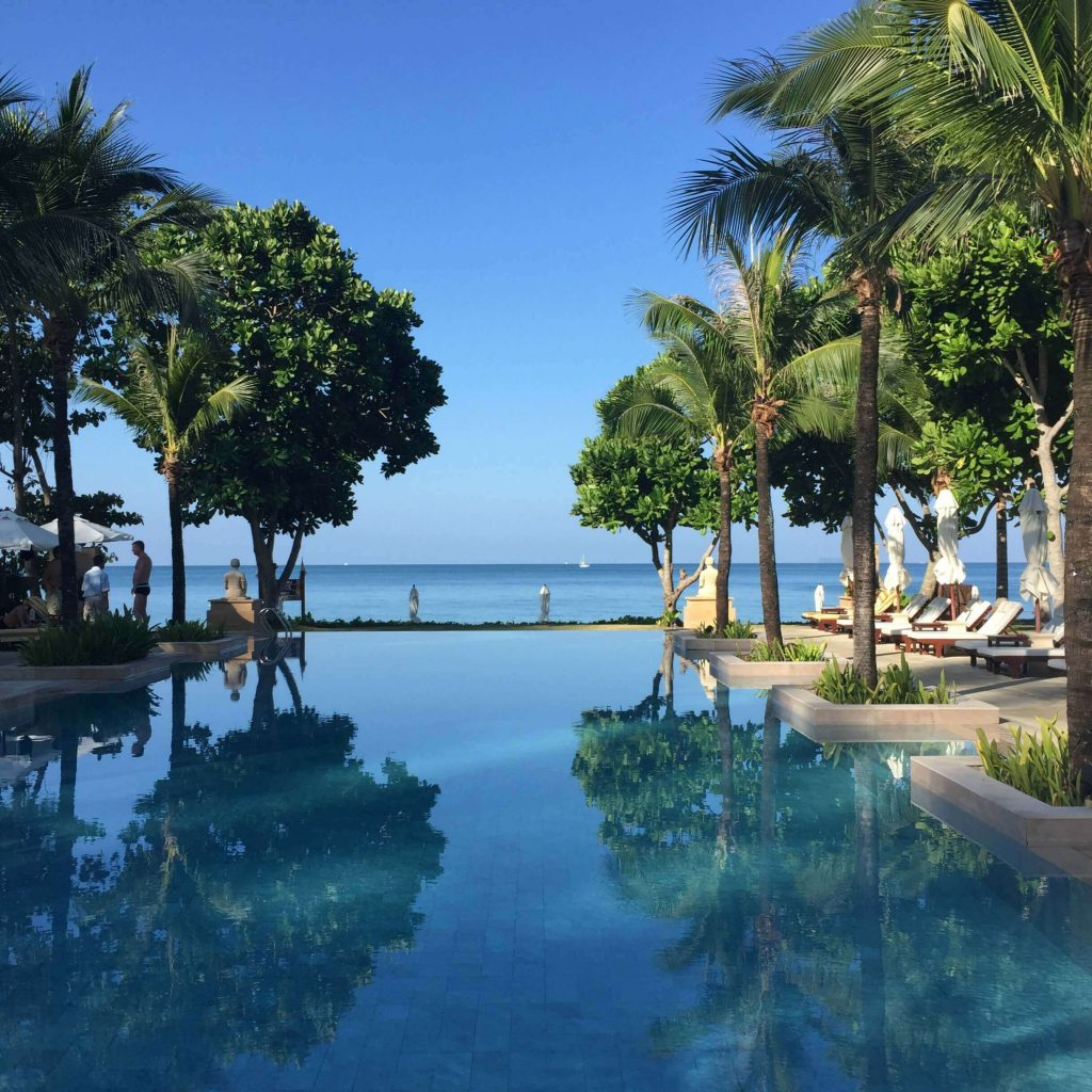 Island guide to Koh Lanta, Thailand. The swimming pool at the Layana Resort and Spa. Luxury Travel Planning
